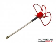 Furious FPV STUBBY 48mm 5.8Ghz U.FL LHCP Circular Antenna (Red)