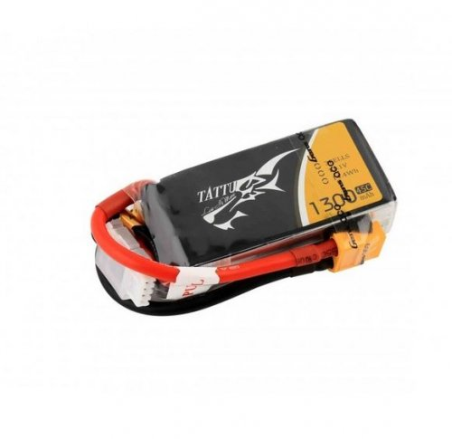 Tattu 1300mAh 11.1v 3S 45C Lipo Battery (XT-60)