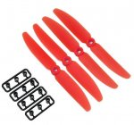 Gemfan 5x3 Red 4 Piece Propeller Set (CCW)
