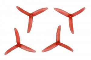 RACEKRAFT 5040 BN 3-BLADE/TRI-BLADE PROPELLER SET (RED)