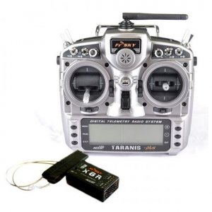 FRSky Taranis X9D Plus 2.4 GHz ACCST Radio & X8R Receiver (Mode 2)