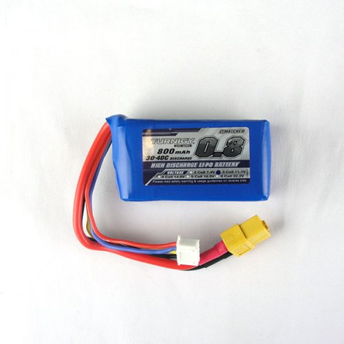 Turnigy 800mAh 11.1v 3S Lipo Battery 20C (XT-60)