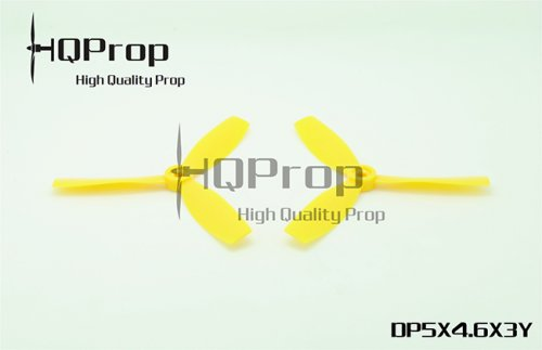 HQ PROP TRI-BLADE 5X4.6X3 DURABLE PROPELLER SET (2CW/2CCW) (YELLOW)