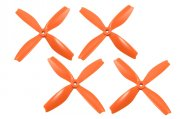 HQ PROP QUAD-BLADE DPS 5x4x4 Orange (2CW+2CCW)