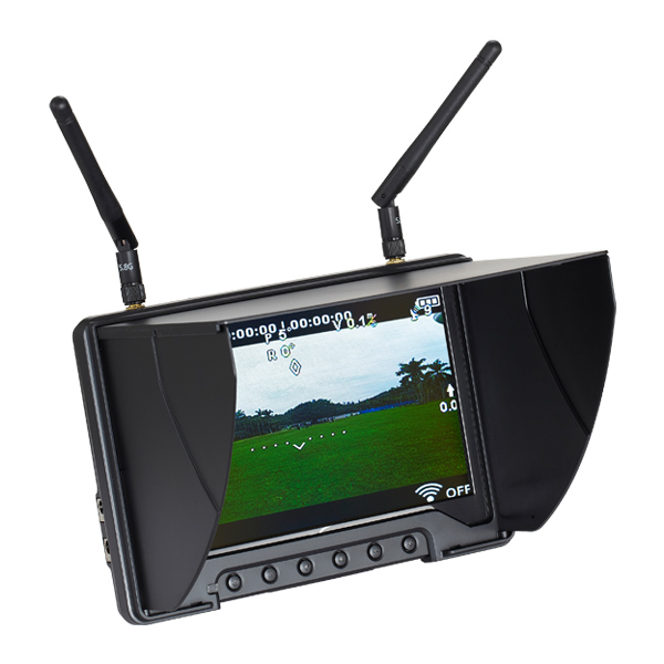 "Black Pearl 7"" FPV Monitor with 32Ch 5.8GHz Diversity Rx - RC801"