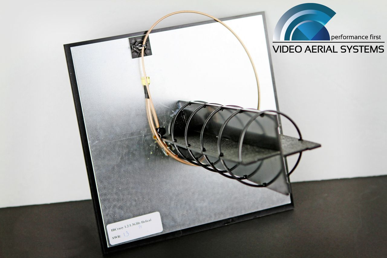 Helical Axial 1.2 - 1.3 GHz Antenna (IBCRAZY)