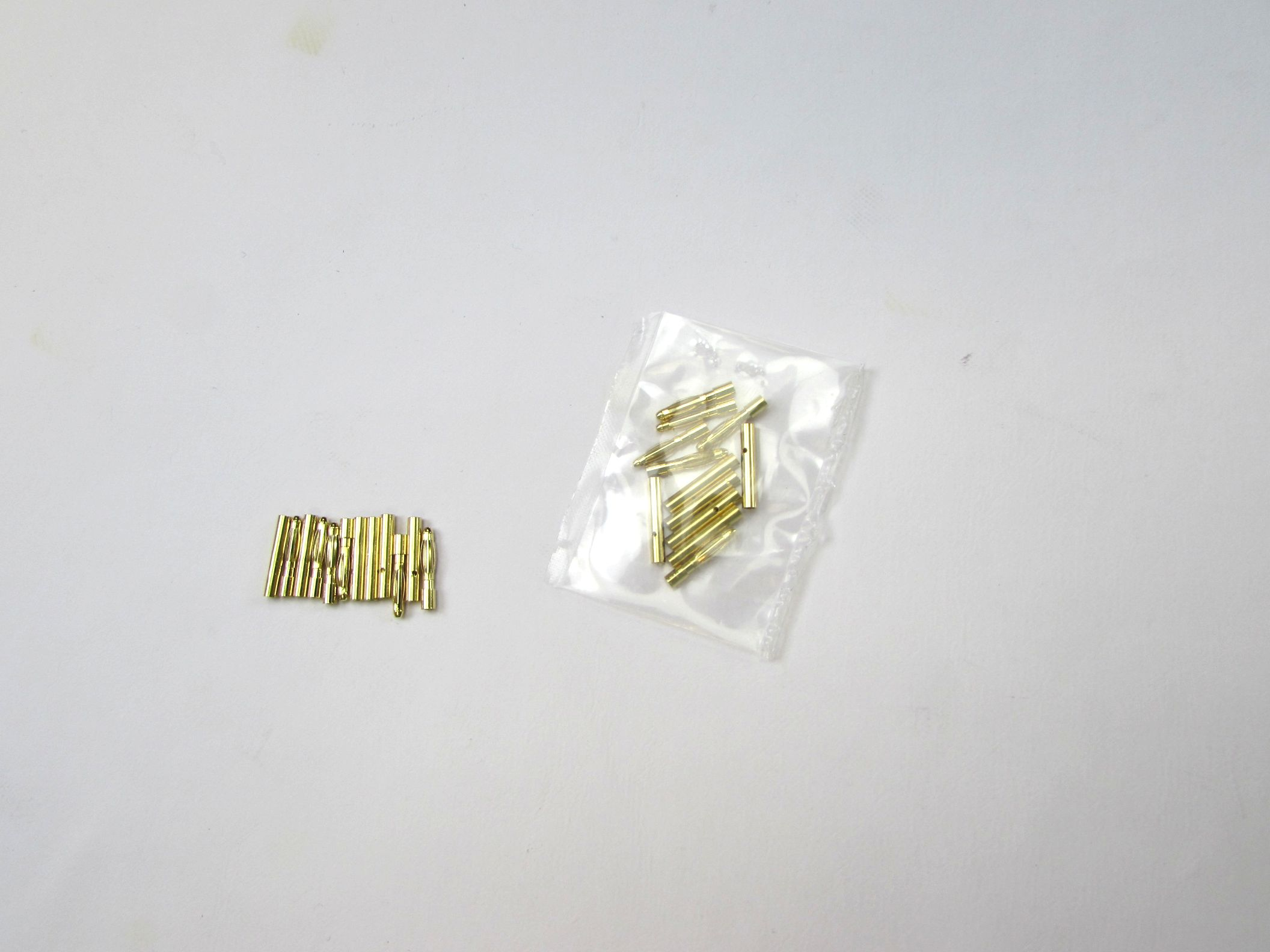 12 Pair Gold Bullet Banana Plug Connector (2.0mm)