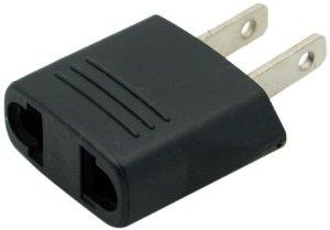 Generic Round Europe To Usa Plug Adapter Larger Image