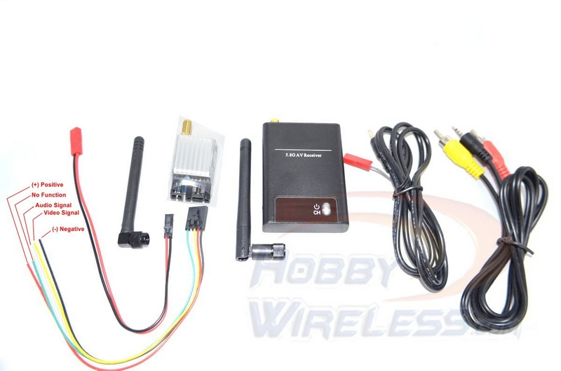 "FPV584-F Plug and Play 5.8 GHz 400mW Wireless System - ""F"" Band"