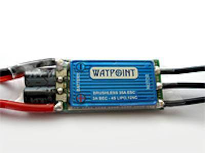 WAYPOINT 35A BRUSHLESS SPEED CONTROL - 4S ESC WITH 3A BEC